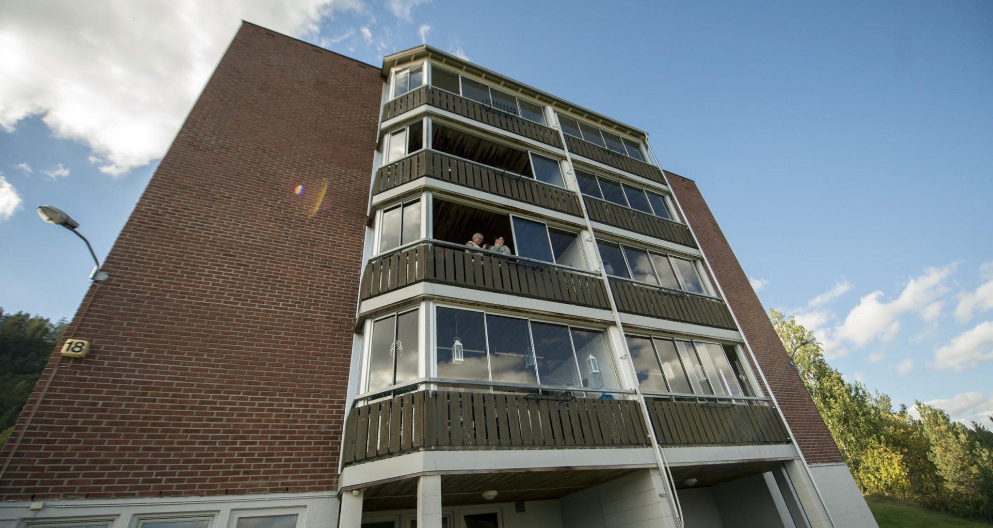 Sju blokker med tilsammen 112 leiligheter har blitt oppgradert. Foto: Bjørn Isaksen