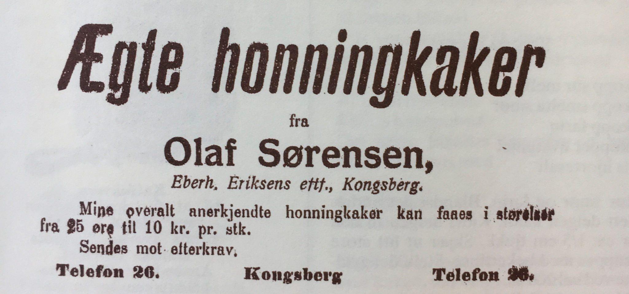 Fra 25 øre til 10 kr. pr. stk. Annonse i Buskerud Blad, 1920.