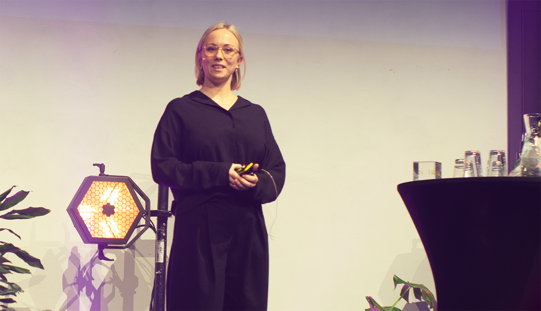Andrea Kristine Lysgaard under prisutdelingen