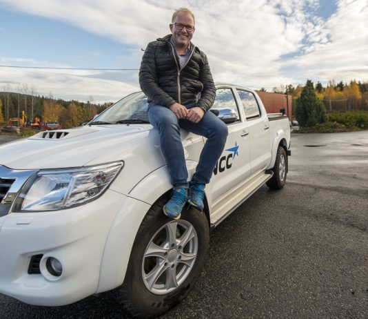 Frank Skjævesland, bilansvarlig hos NCC. Foto: Bjørn Isaksen