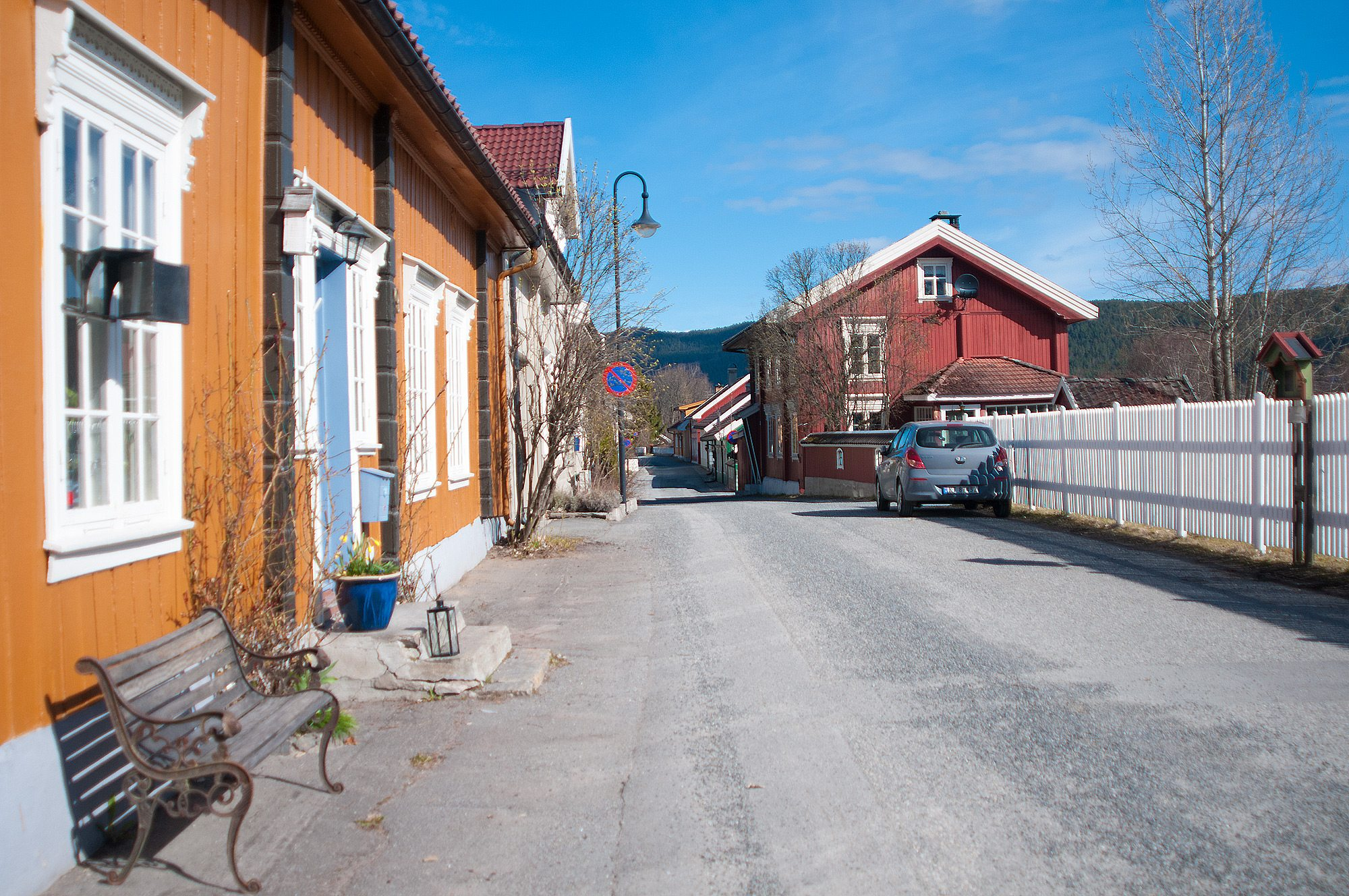 Denne prisvinnende gata har godt bevarte trehus som perler på snor. Men hva heter den?