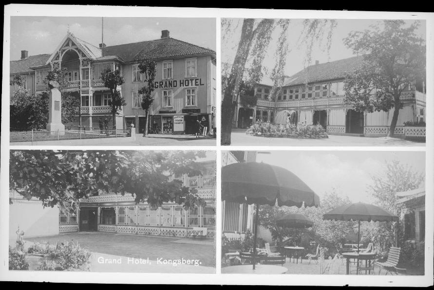 Hvem bygde det første Grand Hotel i Kongsberg?