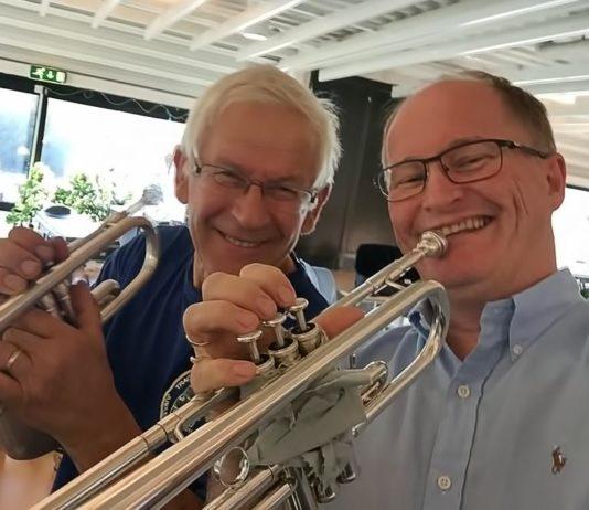 Vebjørn Ruud (t.v.) og Tom Holtermann Andersen. Foto: privat
