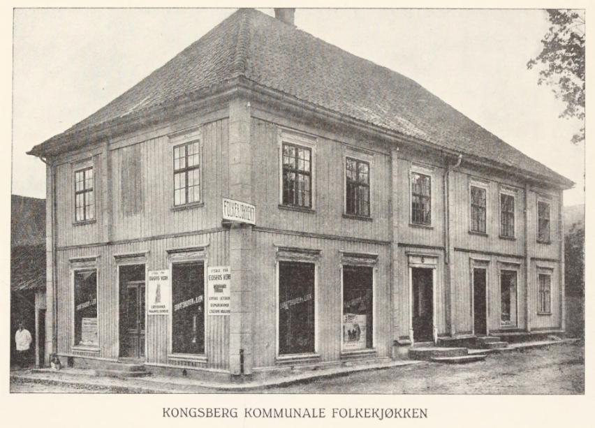 Når ble Folkekjøkkenet åpnet på Kongsberg?