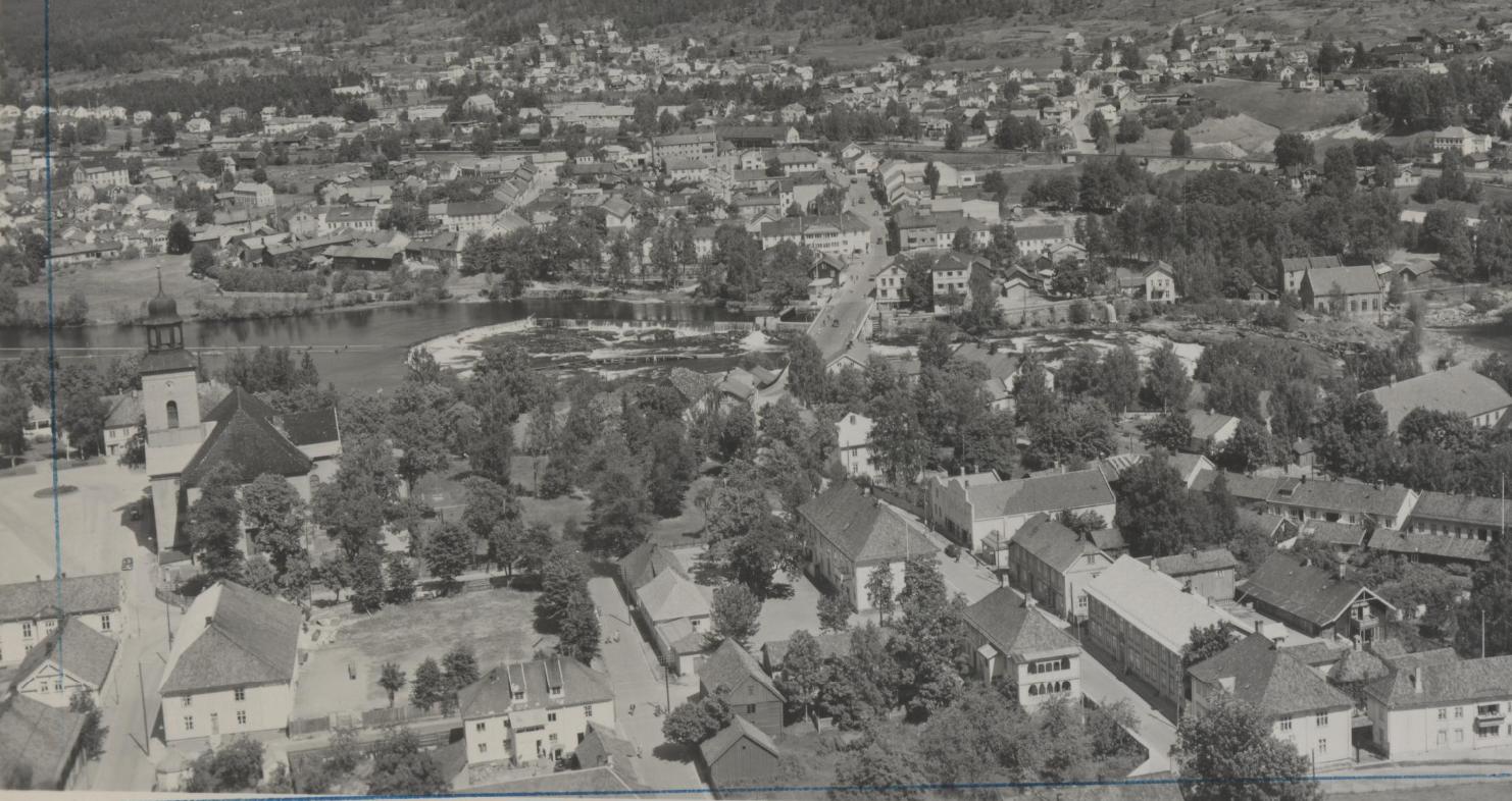 En bygård i Kongsberg het tidligere