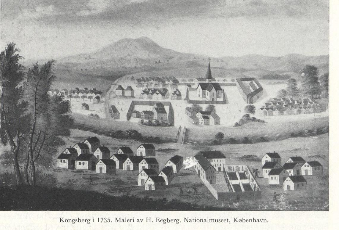 Hvor stod Kong Christian IV da han bestemte hvor byen Konningsberg skulle ligge?